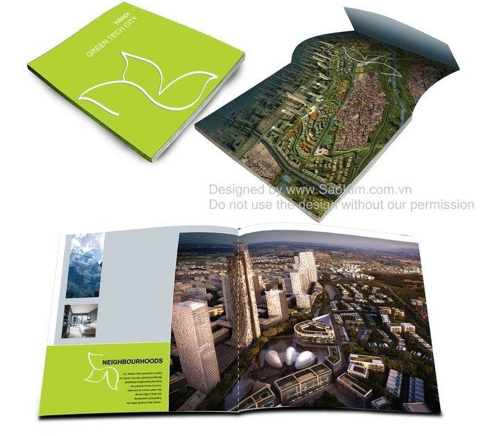 Thiet ke brochure Green Tech City Hanoi
