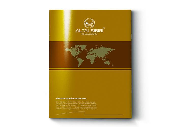 Thiết kế brochure Altai Sibiri
