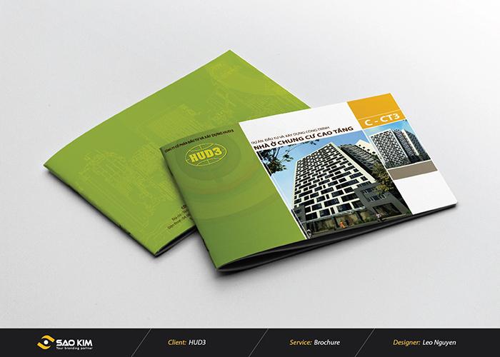 Thiết kế brochure công ty CP đầu tư và xây dựng HUD3