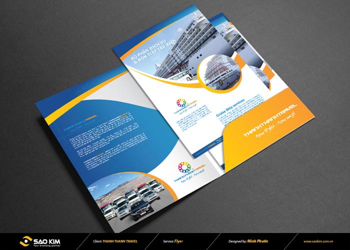 Thiết kế brochure cho công ty du lịch Thành Thành